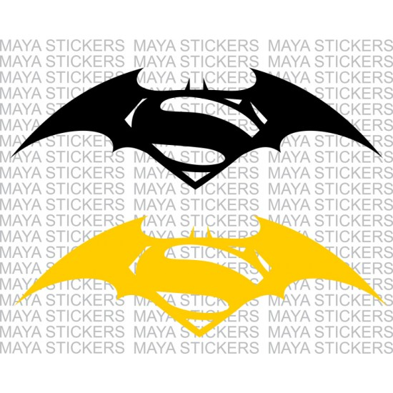 Batman vs superman dawn of justice logo stickers pair of 2 stickers