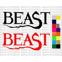 Beast logo decal sticker for cars, bikes, laptops