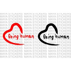 Being Human logo decal stickers for bikes, cars, laptops, mobile