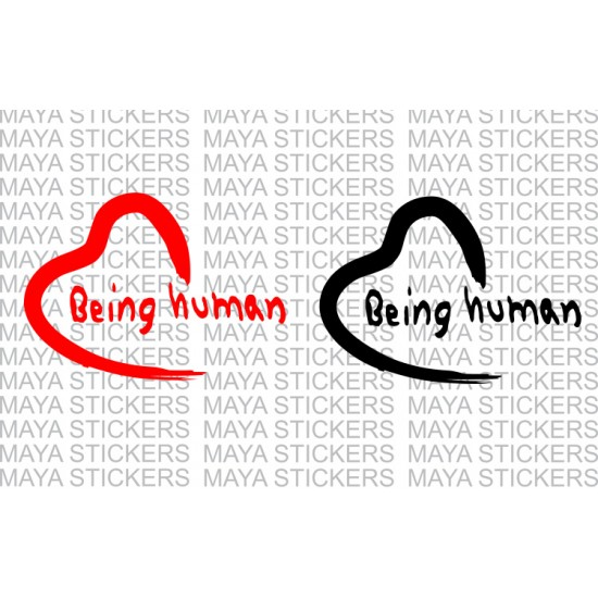 Being Human Logo Decal Stickers Pair Of 2 Stickers