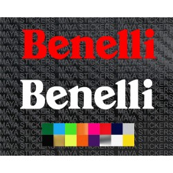 Benelli logo sticker for motorcycles and helmets