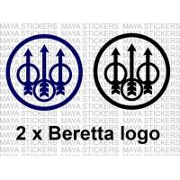 Beretta logo decal stickers ( Pair of 2 )