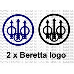 Beretta logo decal stickers ( Pair of 2 )