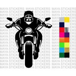 Biker silhouette sticker for cars, bikes, laptops