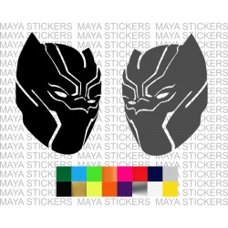 Black panther super hero mask decal sticker