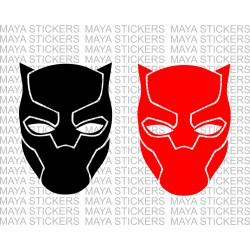 Black panther decal sticker for cars, bikes, laptops