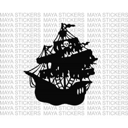 Black pearl - pirates of the Caribbean pirate ship decal sticker