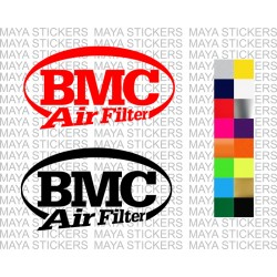 BMC air filter logo stickers in custom colors and sizes