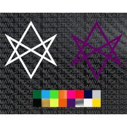 BMTH hexagram star decal sticker for cars, bikes, laptops, guitars, mobile