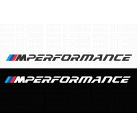 BMW M performance logo decal stickers