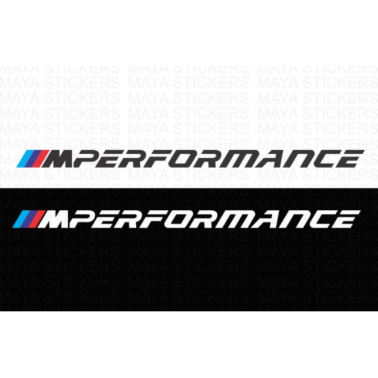 Bmw M Performance Logo Stickers Pair Of 2