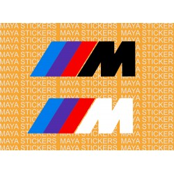 BMW M series logo decal stickers