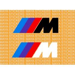 BMW M series logo decal stickers