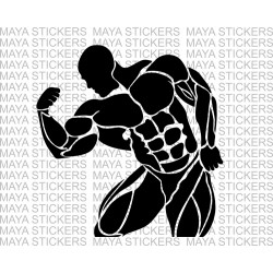 Bodybuilder biceps gym decal stickers