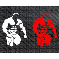 Body builder decal stickers for cars, bikes, laptops