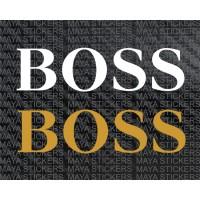 BOSS logo decal stickers