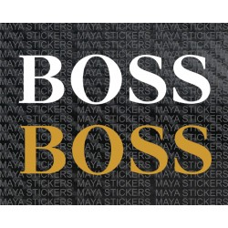 BOSS logo decal stickers
