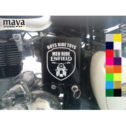 Boys ride toys, Men ride enfield decal sticker for royal enfield bikes