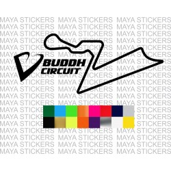Buddh International circuit track logo sticker