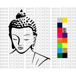 Buddha decal sticker for cars, bikes, laptops