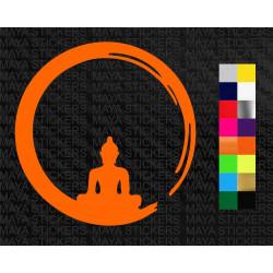 Buddha round design decal sticker for cars, bikes, laptops