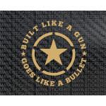 Built like a Gun star sticker for Royal Enfield