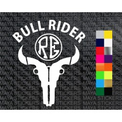 Bull Rider new design sticker for Royal Enfield bikes