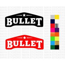 Bullet logo sticker for Royal Enfield bikes / helmets