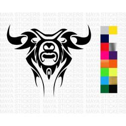 Tribal design bull head sticker for cars, bikes, laptops , helmets