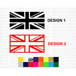 British Union Jack Flag logo stickers in single color for cars, bikes, laptops and others