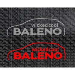 Baleno wicked cool decal sticker