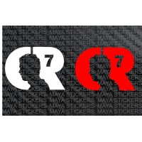 Cristiano Ronaldo CR7 silhouette logo sticker / decal (pair of 2)