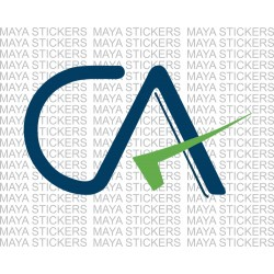 CA Chartered Accountant logo sticker for cars, bikes, laptops, wall