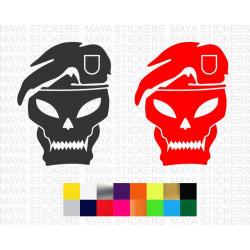 Call of Duty Black Ops skull logo sticker for laptops, desktops, cars, bikes