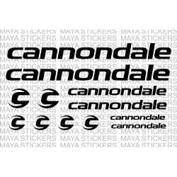 Cannondale bicycle logo sticker combo set