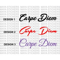 Carpe Diem decal stickers