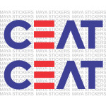 CEAT tyres logo stickers for bikes and Cars