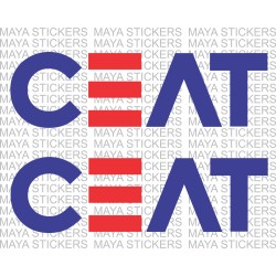 CEAT tyres logo stickers for bikes and Cars (Pair of 2 Stickers)