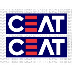 Ceat logo decal stickers with background. ( Pair of 2 stickers )