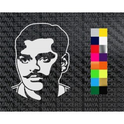 Chandrashekhar Azad decal sticke in custom colors and sizes