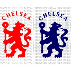 Chelsea FC lion logo stickers for bikes, cars and laptops