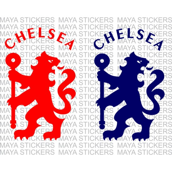 Chelsea fc lion logo stickers for bikes cars and laptops pair of 2