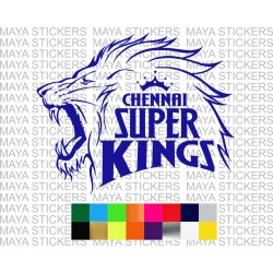 Chennai superkings  IPL team decal sticker for bikes, cars, laptops