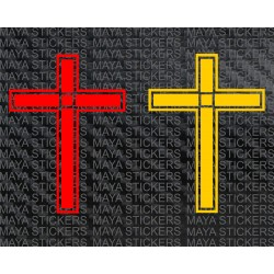 Cross decal stickers for bikes, cars, laptops and mobile