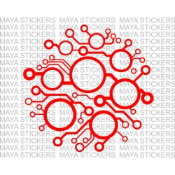 Circuit board pattern abstract design sticker