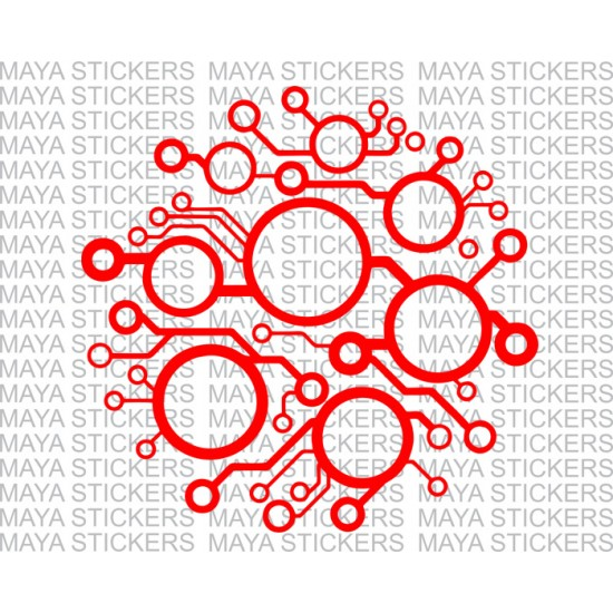 Circuit board abstract pattern design decal