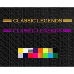 Classic legends logo stickers for bikes and cars