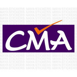 CMA  logo sticker for cars, bikes, laptops, door and others