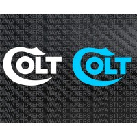 Colt logo decal stickers ( Pair of 2 )