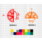 Compass and Trip design sticker for Royal Enfield bikes